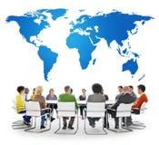 Van het commerciële de Conferentie Globaal Concept Vergaderingsseminarie Stock Fotografie