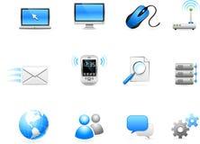 Van het communicatie de inzameling technologiepictogram Royalty-vrije Stock Afbeelding