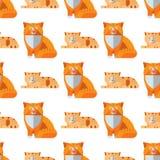 Van het de achtergrond illustratie leuk dierlijk grappig naadloos patroon van kattenhoofden vectorkarakters katachtig binnenlands stock illustratie