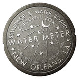Van het de Affiche Franse Kwart van New Orleans het Iconische Watermeter Creatieve Ontwerp Stock Foto