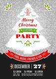 Van het de afficheontwerp van de Kerstmispartij de Vector abstracte achtergrond Royalty-vrije Stock Afbeeldingen