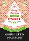Van het de afficheontwerp van de Kerstmispartij de Vector abstracte achtergrond Royalty-vrije Stock Foto's
