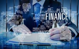 Van het de Analysebeheer van de Finanaceveiligheid Globaal de Boekhoudingsconcept Stock Afbeeldingen