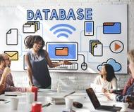 Van het de Analysesysteem van het gegevensgegevensbestand de Informatieconcept Stock Afbeeldingen