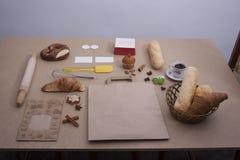 Van het de bakkerij bruine close-up van het broodvoedsel de cakepretzel Stock Fotografie