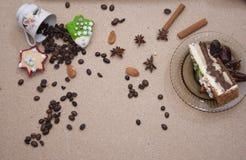 Van het de bakkerij bruine close-up van het broodvoedsel de cakepretzel Stock Foto