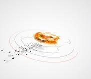 Van het de bedrijfs nieuwe technologieconcept van de oneindigheidscomputer achtergrond vector illustratie