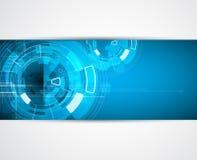 Van het de bedrijfs nieuwe technologieconcept van de oneindigheidscomputer achtergrond Stock Foto