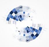 Van het de bedrijfs nieuwe technologieconcept van de oneindigheidscomputer achtergrond Royalty-vrije Stock Fotografie