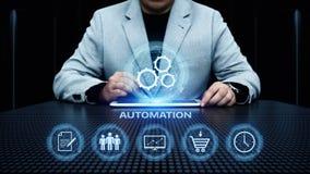 Van het de Bedrijfs technologieproces van de automatiseringssoftware het Systeem concept stock afbeelding