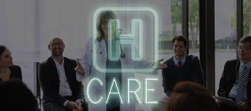 Van het de Behandelingspictogram van de het ziekenhuis het Dwarsgezondheid Grafische Concept Royalty-vrije Stock Foto's