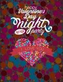 Van het de bellenhert van de valentijnskaartendag volledig de kleurenontwerp Royalty-vrije Stock Foto's