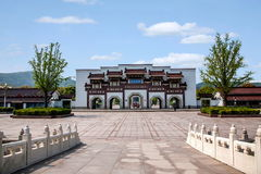 Van het de Berg de Toneelgebied van Lingshanboedha Weg Gatehouse van Lingshan Boedha Bodhi Stock Foto