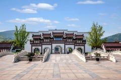 Van het de Berg de Toneelgebied van Lingshanboedha Weg Gatehouse van Lingshan Boedha Bodhi Royalty-vrije Stock Foto