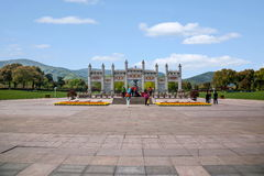Van het de Berg de Toneelgebied van Lingshanboedha Weg Gatehouse van Lingshan Boedha Bodhi Stock Afbeelding