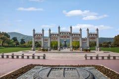 Van het de Berg de Toneelgebied van Lingshanboedha Weg Gatehouse van Lingshan Boedha Bodhi Stock Afbeeldingen