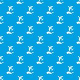 Van het de beschermingspatroon van de luchtpassagier het vector naadloze blauw Royalty-vrije Stock Afbeelding