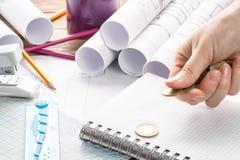 Van het de Betalingsontwerp financiën van de Bedrijfsconceptenprijs de behendige Projectleiding stock foto
