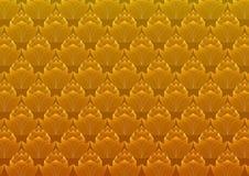 Van het de bloempatroon van de luxe de bloemenlotusbloem vector abstracte achtergrond Stock Afbeeldingen