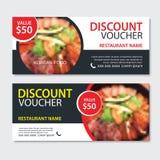 Van het de bon Aziatisch voedsel van de kortingsgift het malplaatjeontwerp Koreaanse en Japanse reeks Gebruik voor coupon, banner vector illustratie
