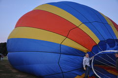 2015 van het de Brandbedrijf van Plainville (CT) het Festival van de de Hete Luchtballon Stock Foto