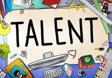 Van het de Capaciteitenvermogen van talenten Begaafd Vaardigheden de Deskundigheidsconcept vector illustratie