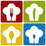 Van het de chef-kokrestaurant van het pictogram het vastgestelde patroon. Royalty-vrije Stock Afbeeldingen