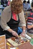 Van het de chocoladefestival van Ghirardelli de cabine van de de truffelstaaf Stock Foto