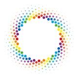 Van het de cirkelkader van de regenboog Halftone werveling vector het ontwerpelement Royalty-vrije Stock Foto's