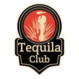 Van het de clubkenteken van Tequilaminnaars het embleem vectormalplaatje Stock Afbeeldingen
