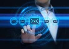 Van het de Communicatie van de berichte-mail Post Concept het Online Praatje Commerciële Technologienetwerk van Internet royalty-vrije illustratie