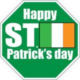 Van het de dag de groene teken van heilige Patrick witte achtergrond stock illustratie