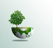 Van het de dagconcept van de wereldboom ecomilieu Stock Afbeelding