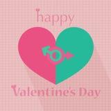 Van het de daghart van de gelukkige valentijnskaart het patroonillustraties Stock Foto's