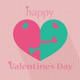 Van het de daghart van de gelukkige valentijnskaart het patroonillustraties Stock Afbeeldingen