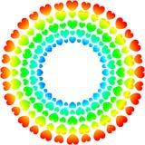 Van het de dagkader van hartenvalentijnskaarten de regenboogspectrum stock illustratie