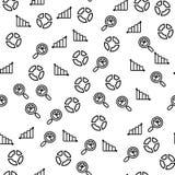 Van het de Data Centerrapport van de diagramgrafiek het Naadloze Patroon royalty-vrije illustratie