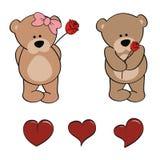 Van het de dierenbeeldverhaal van de teddybeerbaby leuke de stickerreeks Royalty-vrije Stock Foto