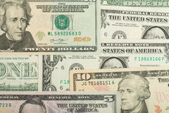 Van het de dollargeld van de V.S. de achtergrond van de de bankbiljettentextuur Stock Afbeeldingen