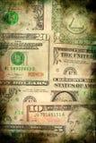 Van het de dollargeld van de V.S. de achtergrond van de de bankbiljettentextuur grunge Stock Foto