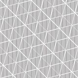 Van het de driehoekspatroon van Abstrctlijnen de zwart-witte achtergrond stock illustratie