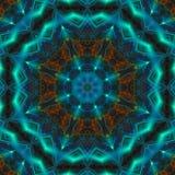 Van het de fantasieornament van de caleidoscoopsymmetrie de symmetrie symmetrische effect heldere futuristische mandalamanier, ha stock illustratie