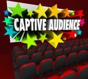 Van het de Filmscherm van gevangen Publiekswoorden het Theater Verkopende Klanten PR royalty-vrije illustratie