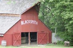 Van het de Geschiedenismuseum van de ondieptekreek de Levende Smid Barn Stock Fotografie