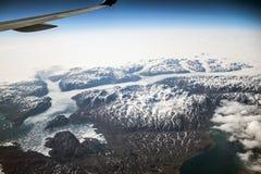 Van het de gletsjer luchtlandschap van Groenland witte bergen 6 royalty-vrije stock foto