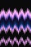Van het de golfpatroon van de chevronzigzag abstracte de kunstachtergrond, kleurentendensen De lichte schemering van de bewegings Royalty-vrije Stock Afbeelding