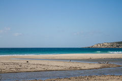 Van het de hemel oceaanzand van de de zomerzon blauwe de woestijnbergen Stock Afbeelding