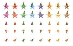 Van het de hoedenbeeldverhaal van de sterpartij de kleurrijke reeks royalty-vrije illustratie