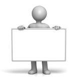 Van het de holdingsteken van het karakter de raadsVoorzijde Stock Foto's