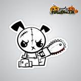 Van het de hondvoodoo van Halloween kwaad grappig de poppenpop-art vector illustratie